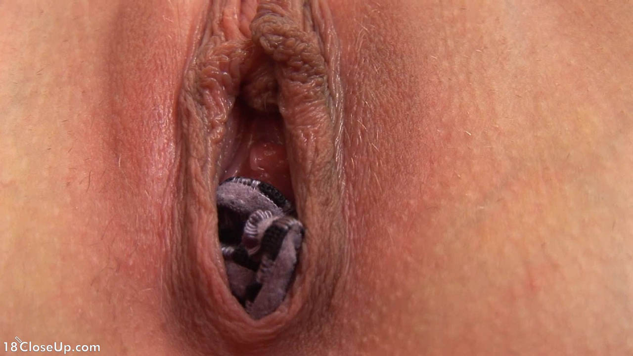 Close up of girl having orgasm