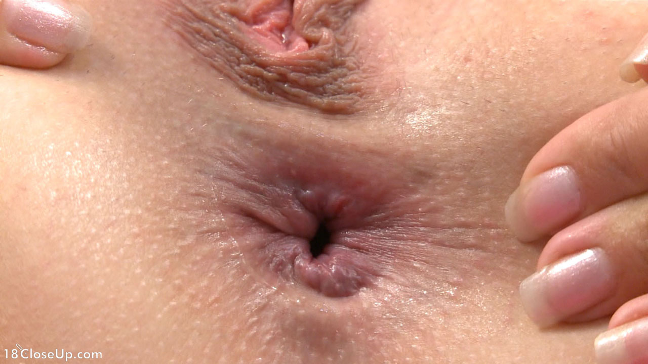 nude dripping anus closeup