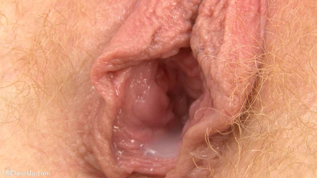 Closeup of dripping wet pussy with convulsing cum at end 1